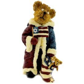 Boyds Bears Bearstone Resin Figurine - Franklin Kringlebeary Peace On Earth