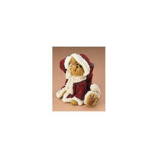 Boyds Bears Bearstone Resin Figurine - Lil' Nick Happy Holidays! #228456 Retired