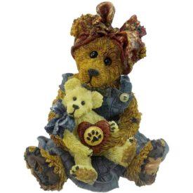 Boyds Bears Bearstone Resin Figurine - Momma Mcbear And Caledonia Quit Time