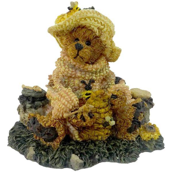 Boyds Bears Bearstone Resin Figurine - Bailey Honey Bear