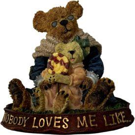 Boyds Bears Bearstone Resin Figurine - Nana Quignapple w/Taylor... If Mom Says No #228331