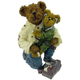 Boyds Bears Bearstone Resin Figurine - E.M.T. Bearsley with Carey... To the Rescue
