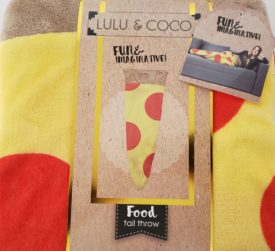"""Lulu & Coco Pizza Tail Throw Blanket Cover Relax Cozy 18"""" x 52"""" Novelty Fun Gift"""