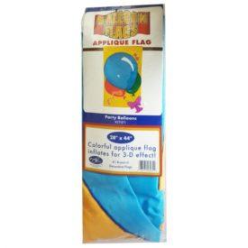 New Creative Party Balloons 3-D Effect Applique Outdoor Flag 28 x 44No. 27071