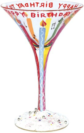 Lolita Love My Martini Glass, Happy Birthday