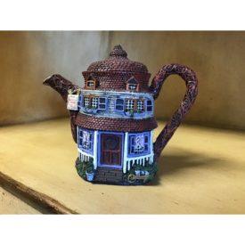 """HOMETOWN TEAPOT COTTAGES """"Quill For Sale"""" Store Miniature Tea Pot"""
