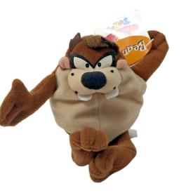 "Vintage 1997 Taz Tasmanian Devil Looney Tunes Bean Bag Plush Soft Toy 6"""