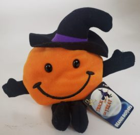 """Beanie Boppers 24K 1997 Item 3615 SMILEY The Trick or Treat Pumpkin Plush 8"""""""
