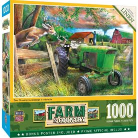 MasterPieces Farm Country 1000 Puzzles Collection - Deer Crossing 1000 Piece Jigsaw Puzzle