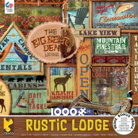 Ceaco Rustic Lodge Collection Rustic Signs Jigsaw Puzzle, 1000 Pieces