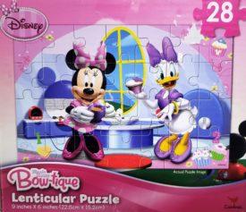 Disney Bowtique 28 Piece Lenticular Puzzle - Minnie & Daisy In the Kitchen