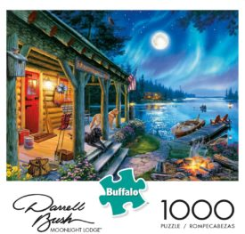 Buffalo Games Darrell Bush Moonlight Lodge 1000 Piece Jigsaw Puzzle