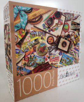 Cardinal Games Big Ben Jigsaw Puzzle Vintage USA Travel 1000 Pieces