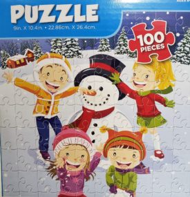 Snowman 100 Piece Puzzle Ages 6 and Up