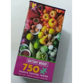 """Brittany Wright FRUITS AND SPICES 750 Piece Puzzle with Poster 21"""" x 21"""""""