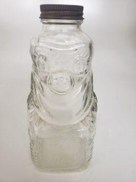 Vintage 1950s Glass Clown Bottle, Grapette Products Co, Camden, Arkansas