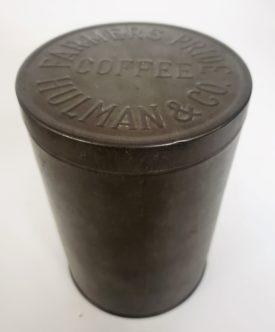 Antique Farmers Pride Coffee Tin Hulman & Co. Embossed Lid Empty, No Label