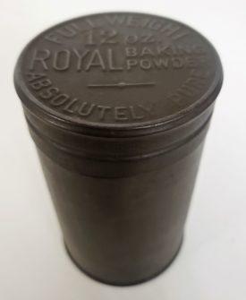 Antique Royal Baking Powder 12 oz. Metal Tin w/ Embossed Lid Empty, No Label
