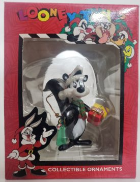 Looney Tunes Collectible Ornament - Pepe Le Pew w/ gift for Penelope Pussycat