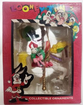 Looney Tunes Collectible Ornament - Marvin The Martian On Carousel Horse