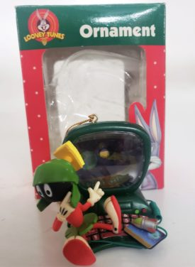 Looney Tunes Collectible Ornament - Marvin The Martian On Computer
