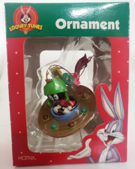 Looney Tunes Collectible Ornament - Marvin The Martian In Flying Saucer Spaceship