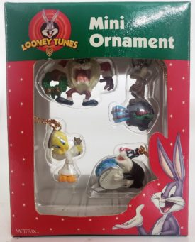 Looney Tunes Collectible Mini Ornament Set of 4 - Taz, Wile E. Coyote, Sylvester, Tweety