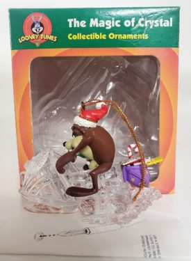 Looney Tunes Collectible Magic of Crystal String Light Ornament - Taz Rides Crystal Snowmobile