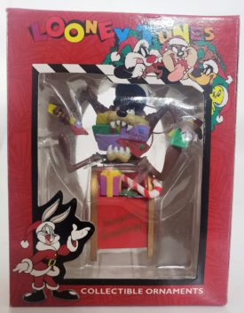 Looney Tunes Collectible Ornament - Taz Eating Letters On Mailbox