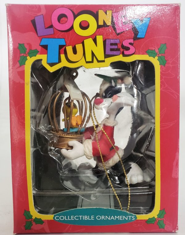 Looney Tunes Collectible Ornament - Sylvester Carrying Tweety In Birdhouse
