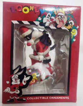 Looney Tunes Collectible Ornament - Sylvester Santa & Tweety Birdhouse