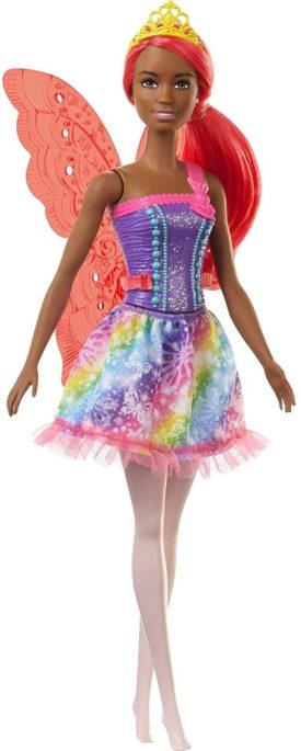 Barbie Dreamtopia Fairy Doll, 12-inch, with Pink Hair, Light Pink Legs & Wings