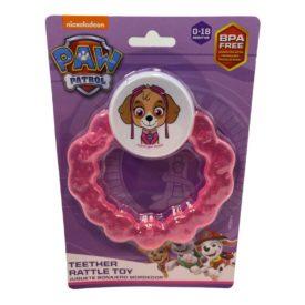 Nickelodeon Paw Patrol Teether Rattle Toy - Pink Skylar 0-18 Months BPA Free