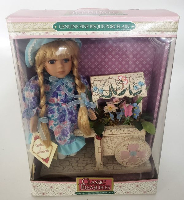 Classic Treasure Special Edition Collectible Doll - Flower Girl With Flower Cart