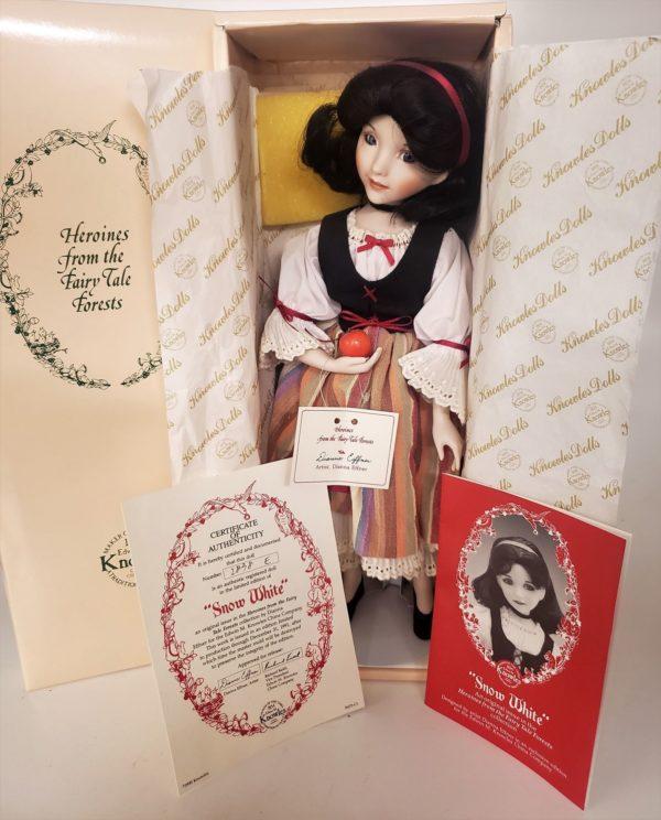 """Vintage Ashton Drake Galleries Snow White 15"""" Porcelain Doll Fairytale Artist Dianna Effner RARE"""