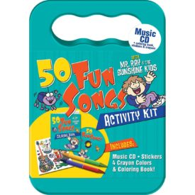 50 Fun Songs Activity Kit Children's Music CD Stickers, Crayons, Coloring Book