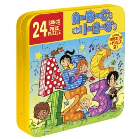 ABC's and 123's Children's' Music CD (Includes 24 Piece Puzzle in Collector's Tin)