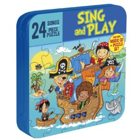 Sing & Play Pirates Children's' Music CD (Includes 24 Piece Puzzle in Collector's Tin)