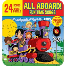 All Aboard! Fun Time Children's' Songs (Includes 24 Piece Puzzle in Collector's Tin)