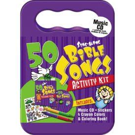 50 Bible Songs Children's' Music CD & Activity Kit