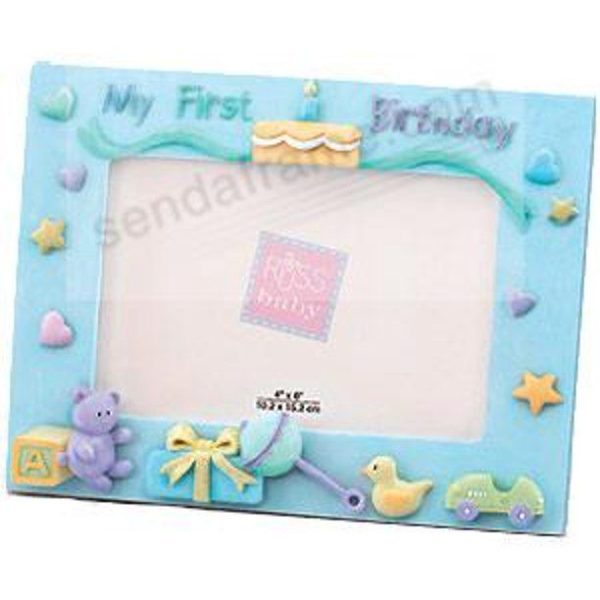 Baby s First Birthday Blue Frame by Russ Berrie