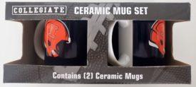 NCAA Illinois Fighting Illini Collegiate Ceramic Mug Set 11 oz. Helmet Orange Blue