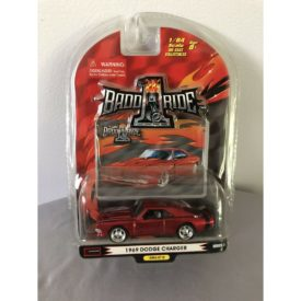 Badd Ride Series 6 1969 DODGE CHARGER 1:64 Scale Red Die-cast Car