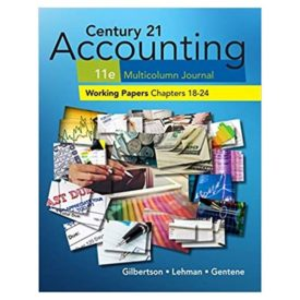 Century 21 Accounting Multicolumn Jrnl Working Papers 18-24 (Paperback)