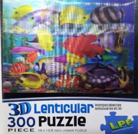 LPF 3D Lenticular Puzzle Colorful Reef Fish 300 Piece
