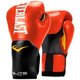 Everlast Elite Pro Style Training Gloves, Red, 14 oz