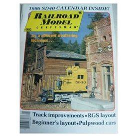 Railroad Model Craftsman Magazine, January 1986 - Vol 54 No. 8 (Collectible Single Back Issue Magazine)