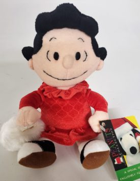 """Applause 8"""" Holiday Lucy Red Dress w/ Muff Plush Peanuts Exclusive Collection"""