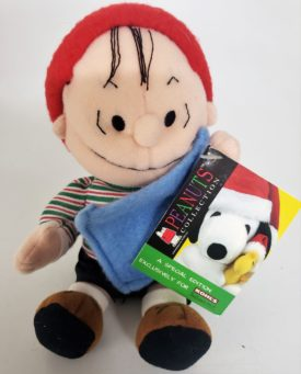 """Applause 8"""" Holiday Linus With Blanket Plush Peanuts Exclusive Collection"""