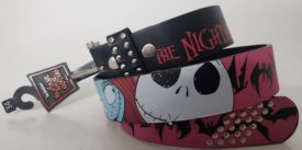 Tim Burton's The Nightmare Before Christmas Studded Leather Belt Size 34